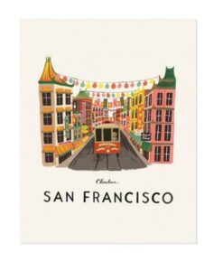 Affiche Rifle Paper Co San Francisco