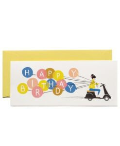 Carte double Scooter et ballons Rifle Paper