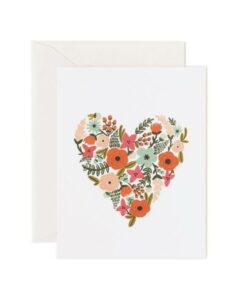 Carte coeur fleuri Rifle Paper -CL001-KO copy