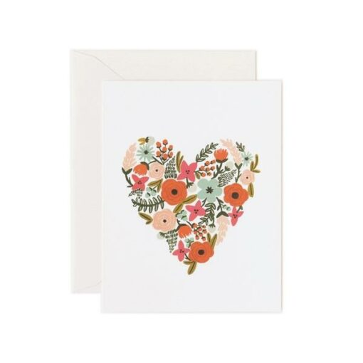 Carte Rifle Paper Co Floral Heart