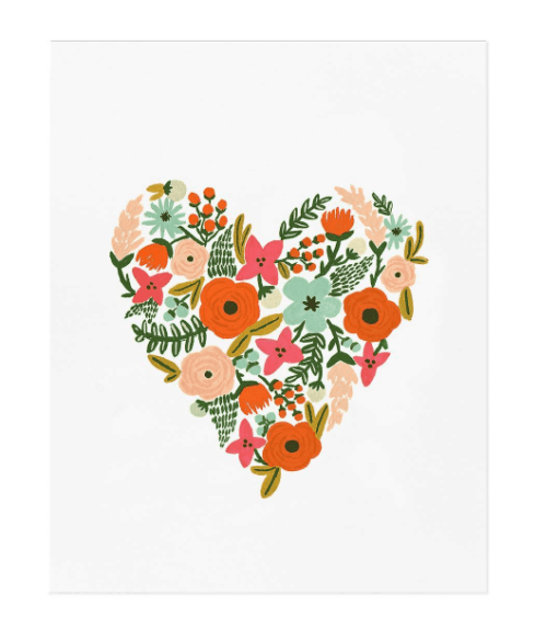 Affiche Rifle Paper Co Floral Heart