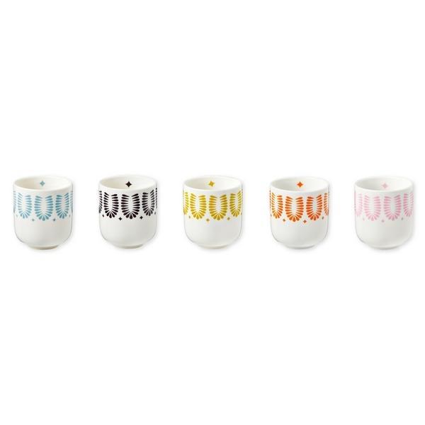 Set de 5 coupelles porcelaine-Mr et Mrs Clynk-CLYT50
