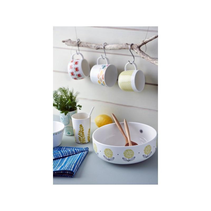 saladier mr et mrs clynk fleurs jaunes pastel shop. Black Bedroom Furniture Sets. Home Design Ideas