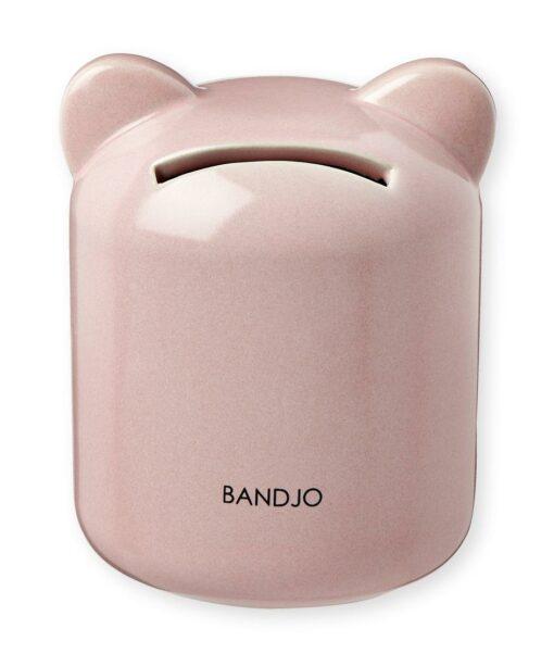 Tirelire cochon Bandjo rose