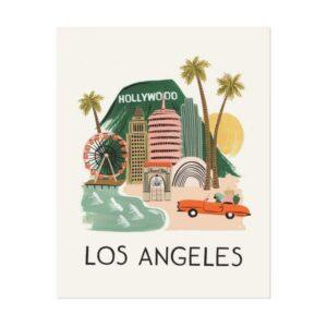 Affiche Los Angeles -Rifle Paper-APM002