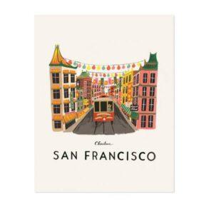 Affiche San Francisco Riffle paper