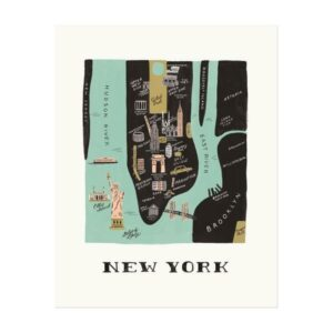 affiche New York Rifle Paper APM005