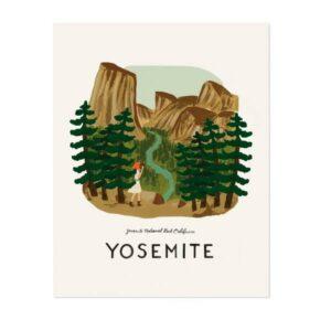 affiche Yosemite Riffle paper