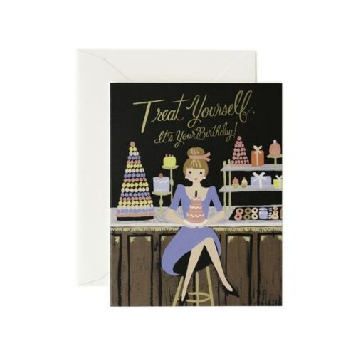 Carte anniversaire Rifle Paper Co Treat Yourself
