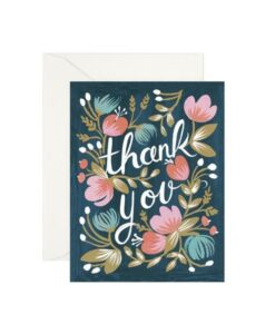 Carte double Thank you Rifle Paper GCT010