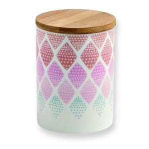 Pot Mini labo losanges pastels porcelaine