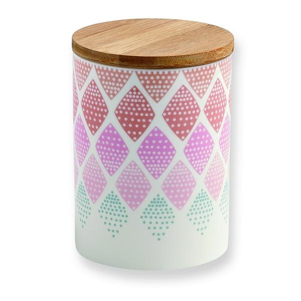 Pot Mini labo losanges pastels porcelaine