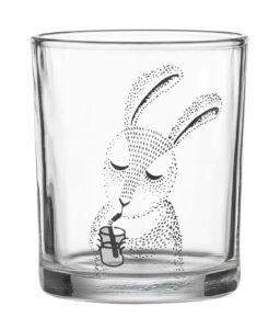 Verre à eau Bloomingville motif lapin