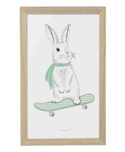 Affiche lapin skate Bloomingville Mini 50500115 (1)