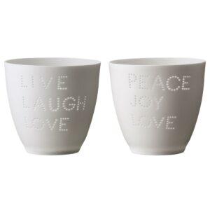 Set de 2 votives Live Peace Bloomingville 278076