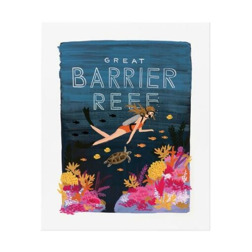 Affiche Rifle Paper Co Barrier rief