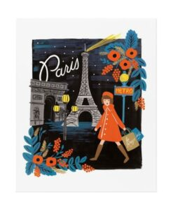 Affiche Rifle Paper Co Paris Travel