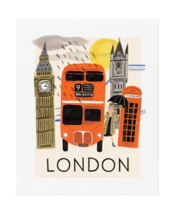 Affiche Rifle Paper Co Londres Travel
