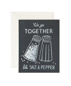 Carte double Salt and Pepper Rifle Paper Co