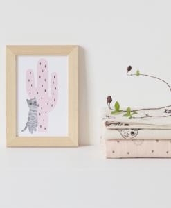Carte Pink Cactus Audrey Jeanne