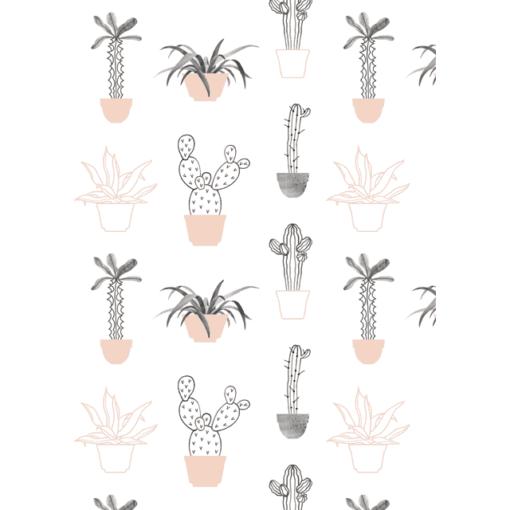 Papier cadeau Audrey Jeanne Pink Cactus