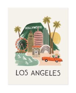 Affiche Rifle Paper Co Los Angeles