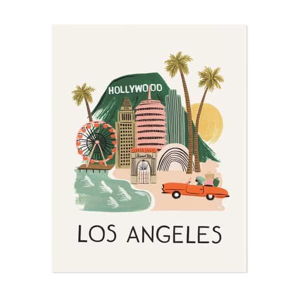 Affiche Los Angeles Rifle Paper Co