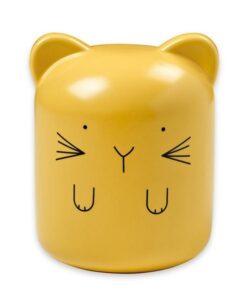 tirelire chat jaune bandjo JOT54