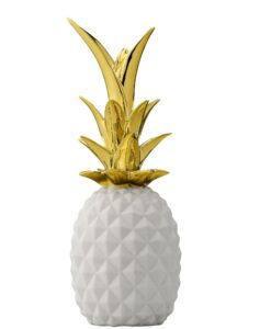 Ananas déco Bloomingville blanc et doré