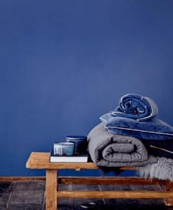 Boite Bloomingville en céramique bleu