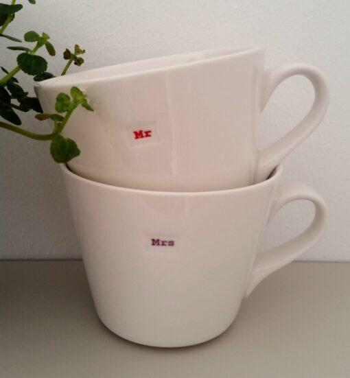 Mug Keith Brymer Jones Mr&Mrs lot de 2