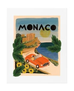 Affiche Rifle Paper Co Monaco APM078