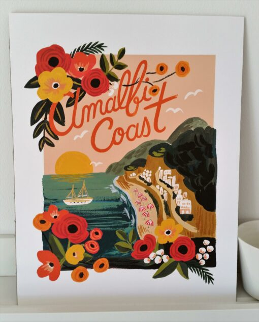 Affiche Rifle Paper Co Amalfi Coast