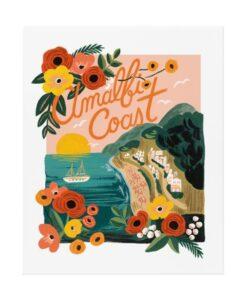 affiche rifle paper co Amalfi Coast APM088