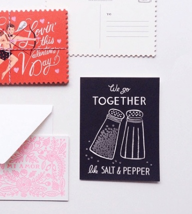Carte amour Salt and Pepper Rifle Paper Co