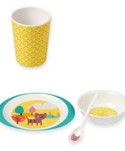 coffret vaisselle mini labo enfants chat MIT02
