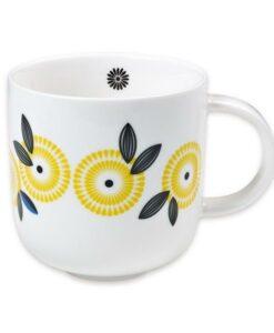 mug vintage mr&mrsclynk fleur jaune CLYT516
