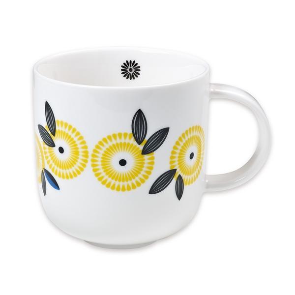 mug vintage mr et mrs clynk fleur jaune pastel shop. Black Bedroom Furniture Sets. Home Design Ideas