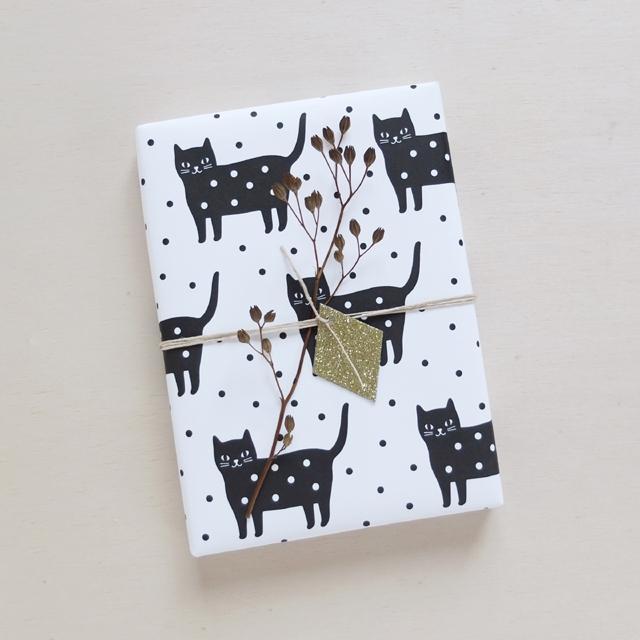 Souvent Papier cadeau Audrey Jeanne Dotty Kitty - Pastel Shop PK23