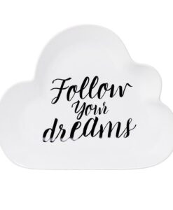 Assiette nuage Bloomingville Follow your dreams