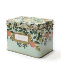 Boîte à recettes Rifle Paper Co Citrus floral