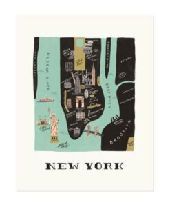 Affiche New York Manhattan Rifle Paper Co