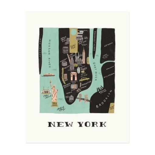Affiche New York Manhattan Rifle Paper Co