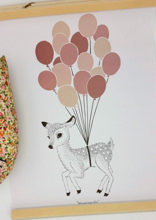 Affiche faon avec ballons Bloomingville Mini