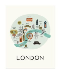 Affiche Londres Rifle Paper Co