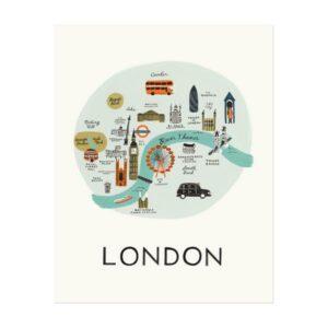 Affiche London Rifle Paper Co