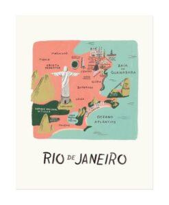 Affiche Rifle Paper Co Rio de Janeiro