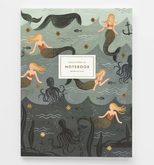 Carnets Mermaid Rifle Paper Co lot de 2