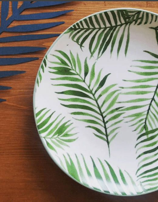 Assiette bloomingville jade 20cm pastel shop for Assiette bloomingville