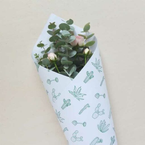 Papier cadeau Audrey Jeanne Green Botanic